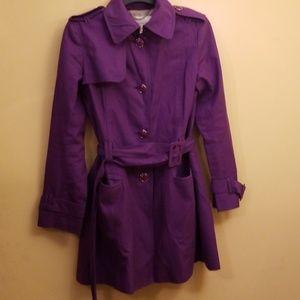 Ladies Banana Republic XS Purple Raincoat
